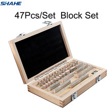 Shahe Block Gauge 47 sztuk/zestaw 1 klasa 0 stopień kontroli bloku Gauge suwmiarka pomiarowa bloku