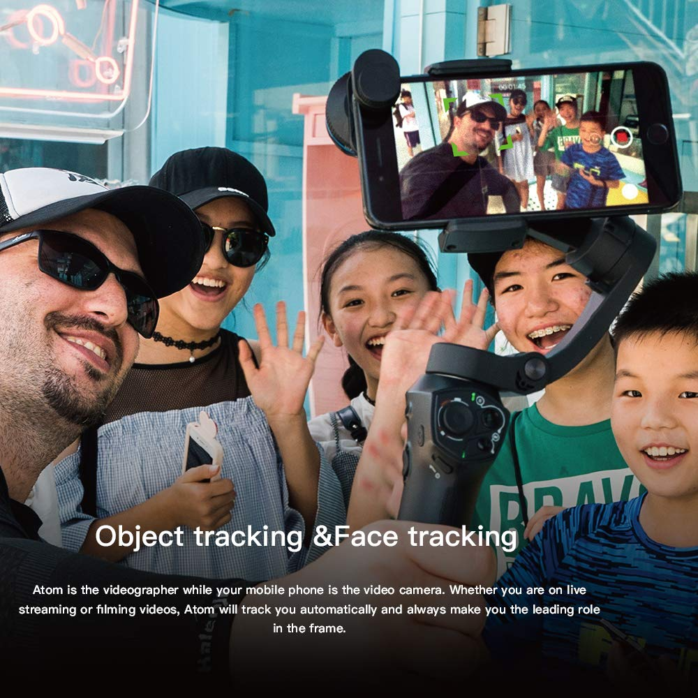 Snoppa Atom складной карманный Дрон Размер затрудняетесь в выборе правильного размера? 3 осевой ручной шарнирный стабилизатор для камеры для iPhone samsung XiaoMi huawei для Gopro 6 7 PK гладкой 4 - 6