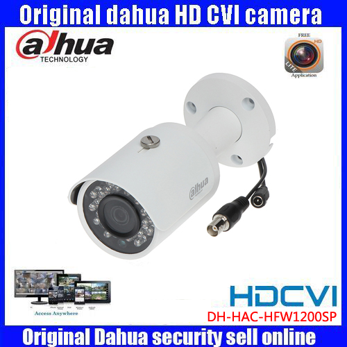 HD1080p Dahua HDCVI Camera 2MP DH-HAC-HFW1200SP HDCVI IR Bullet  Security Camera CCTV IR distance 30m HAC-HFW1200SP dahua hdcvi 1080p bullet camera 1 2 72megapixel cmos 1080p ir 80m ip67 hac hfw1200d security camera dh hac hfw1200d camera