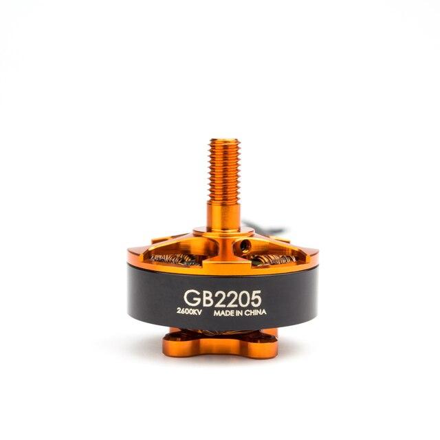 Motor sin escobillas oficial Emax, Motor sin escobillas Emax GB2205 Excelvan GB2205 CW para Dron de control remoto FPV, negro, 2600KV