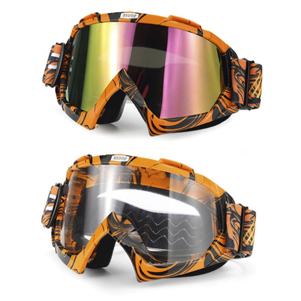 Motorcycle Goggles Windproof Dustproof Skiing Goggles Drop Resistant Motorbike Glasses Outdoor Sports Glasses