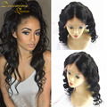 7A Glueless Full Lace Wigs Virgin Wavy Lace Wig Loose Wave With Baby Hair Wig Brazilian Lace Front wig Unprocessed Human Hair