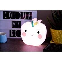 Máscara de la lámpara lámpara de Noche linda de Apple Lámpara de Noche la luz Del Arco Iris para Niños Decoración Para El Hogar para el Bebé