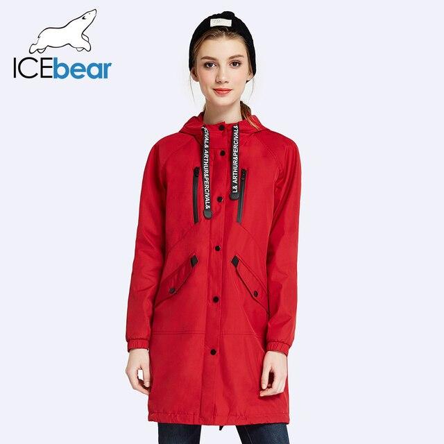 ICEbear 2017 Высокое Качество Весна Осень Новый Повседневная Женская Мода Длинные Пальто Полный Рукав Для Леди Куртка 17G109D