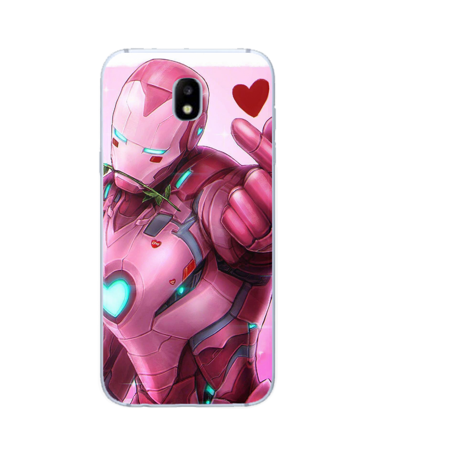 Luxury Cute Marvel Avengers Iron Man Spider Man Phone Case For Samsung Galaxy J3 J4 J5 J6 J7 J8 Plus 2016 2017 2018 Etui Coque in Fitted Cases from Cellphones Telecommunications