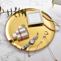 High Class Large Contemporary Stainless Steel Round Storage Tray,Jewellery storage tray,11inch