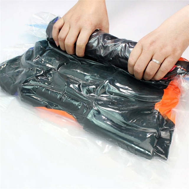 Storage Bags For Clothes No Vacuum Or Pump Needed Reusable E Saver Ng Sacks Rolling Compression Luggage