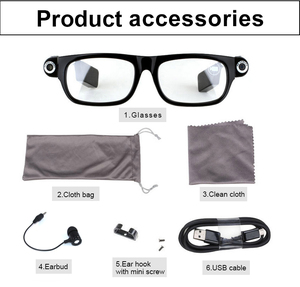 Image 5 - New Multifunction Bluetooth glasses Support to listen to music and call  720p video glasses Built in 32G storage LED light