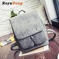 Royadong 2017 mulheres novas mochilas de couro artificial do vintage diário mochila do vintage sacos de escola para adolescentes meninas
