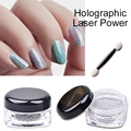 1 Box Holographic Laser Powder Nail Glitter Rainbow Pigment Nail Art Sequins Shiny Chrome Pigments Nail ManicureTools