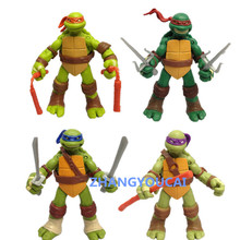 New Arrive 4 Pcs/set 12cm TMNT Teenage Mutant Ninja Turtles Action Figure Anime Model PVC Classic Toys for Kids Collection zy023