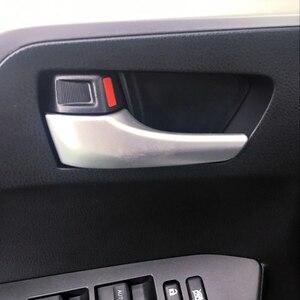 Image 1 - Toyota rav4 2014 2015 2016 2017 abs 액세서리 무광택 내부 핸들 커버 트림 장식 4 pcs