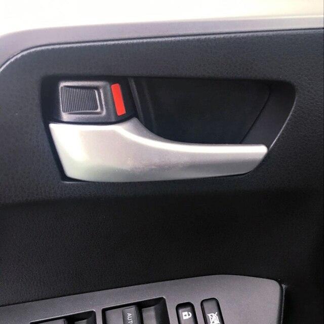 Toyota rav4 2014 2015 2016 2017 abs 액세서리 무광택 내부 핸들 커버 트림 장식 4 pcs