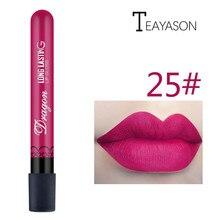 1 Uds Sexy rojo vampiro lápiz labial mate waterproof brillo de labios de terciopelo brillo de labios líquido mate 28 Color cosméticos maquillaje belleza brillo de labios