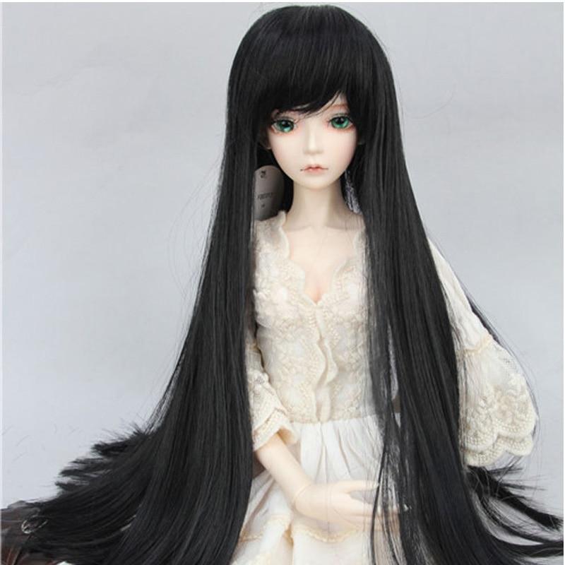 Hot Sale Black Long 1/3 1/4 1/6 BJD Hair SD Doll Wig MSD BJD SD DOD