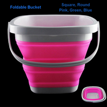 5L Silicone Folding Bucket,Clean Storage Barrels, Save Space Bucket Collapsible for travelling Outdoor Camping Fishing Supplies недорого