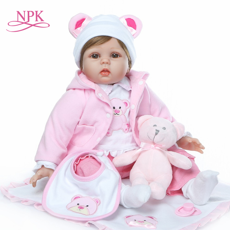 New Arrival NPK 55cm Baby Toys Reborn Dolls Babies Soft Silicone Doll Reborn Gift For Fashion