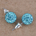 Austrian Crystal Ball Earrings Women Rhinestone Piercing Ear Studs Statement Christmas Gifts  Valentine's Day present