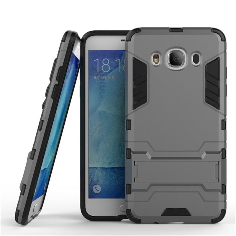 Galleria fotografica Soft TPU Hybrid Shockproof Armor Cover Cases for Samsung Galaxy J1 2016 Case for Samsung Galaxy J5 2016 Case Galaxy J3 Case P25