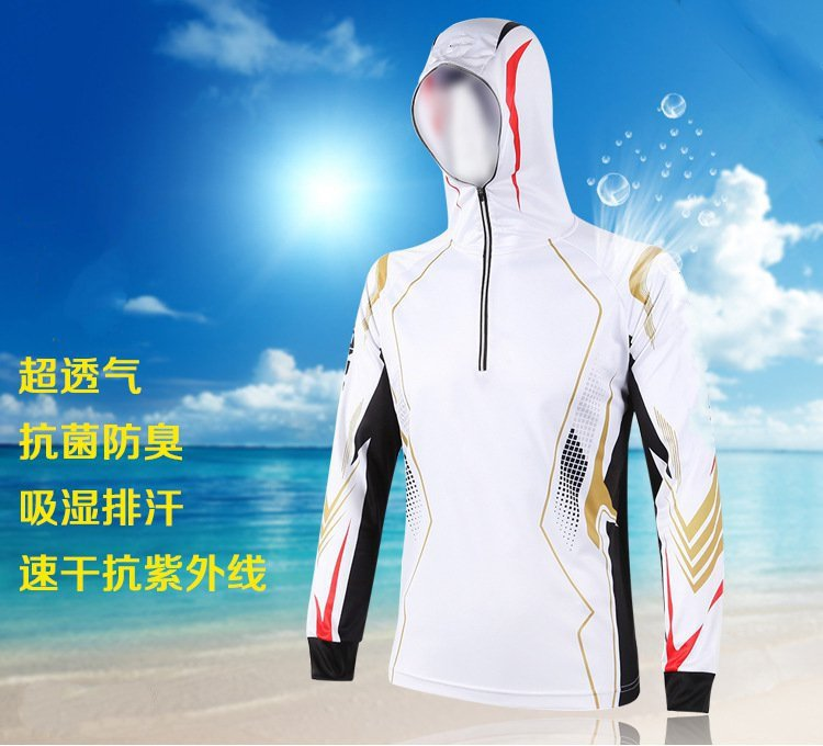Outdoor sun protection clothing for male and female mosquito sunscreen breathable clothing hooded long-sleeved 2017 new daiwa fishing clothes long sleeve breathable sunscreen anti mosquito ultrathin summer dawa daiwas free shipping