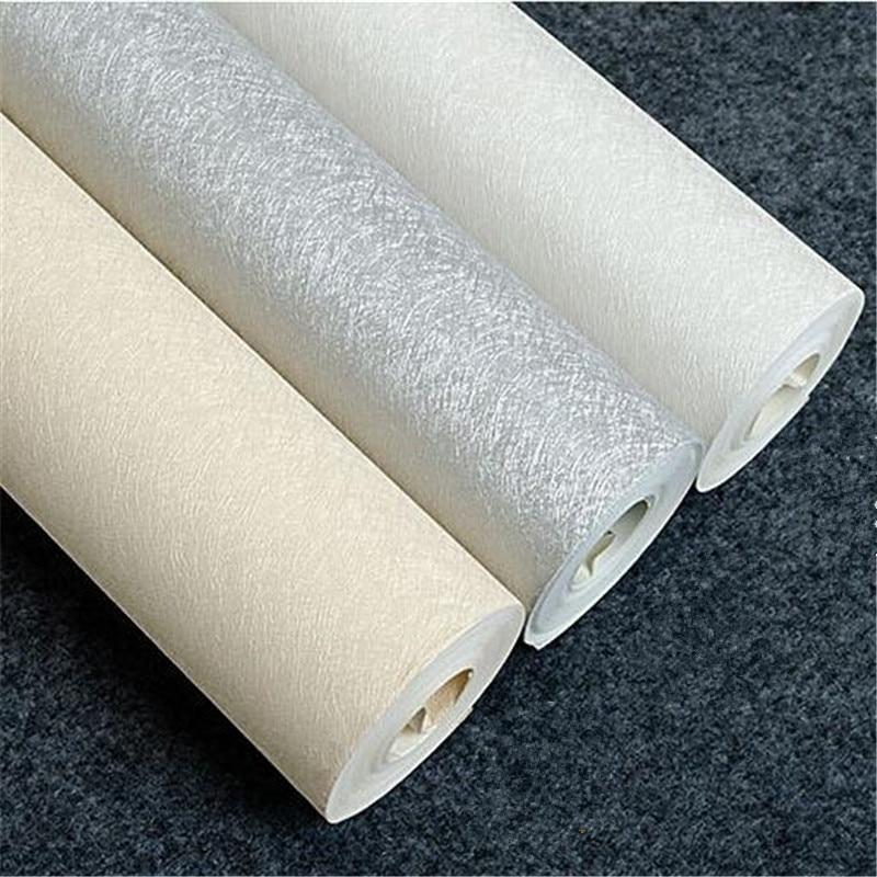 купить beibehang papel de parede Solid color silver yellow white paper wallpaper plain silk hotel corridor aisle decoration wallpaper по цене 1663.05 рублей