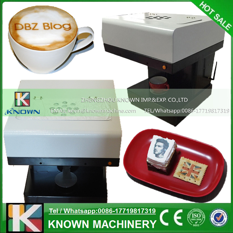 Coffee Printer Milktea Printing Machine with WIFI Flatbed ...