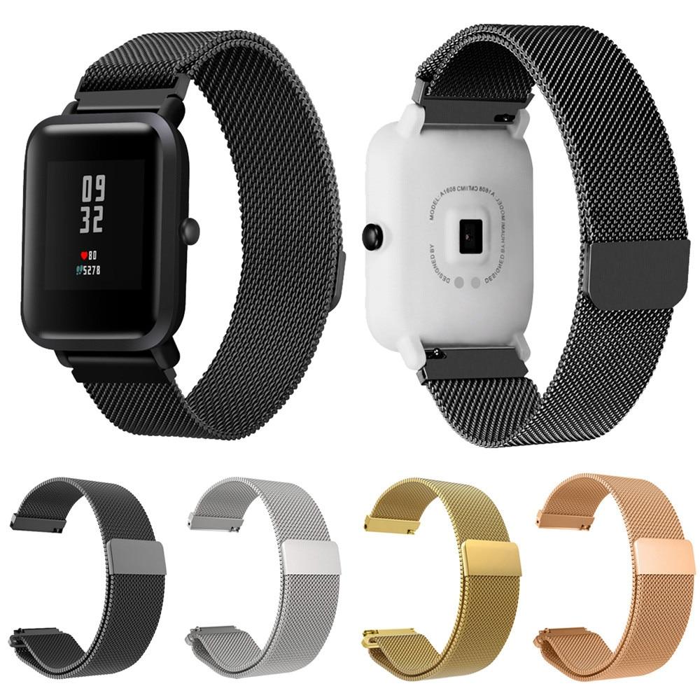 20 Mm Milanese Magnetische Schleife Edelstahl Armband Uhr Band Strap Für Xiaomi Huami Amazfit Bip Jugend Uhr