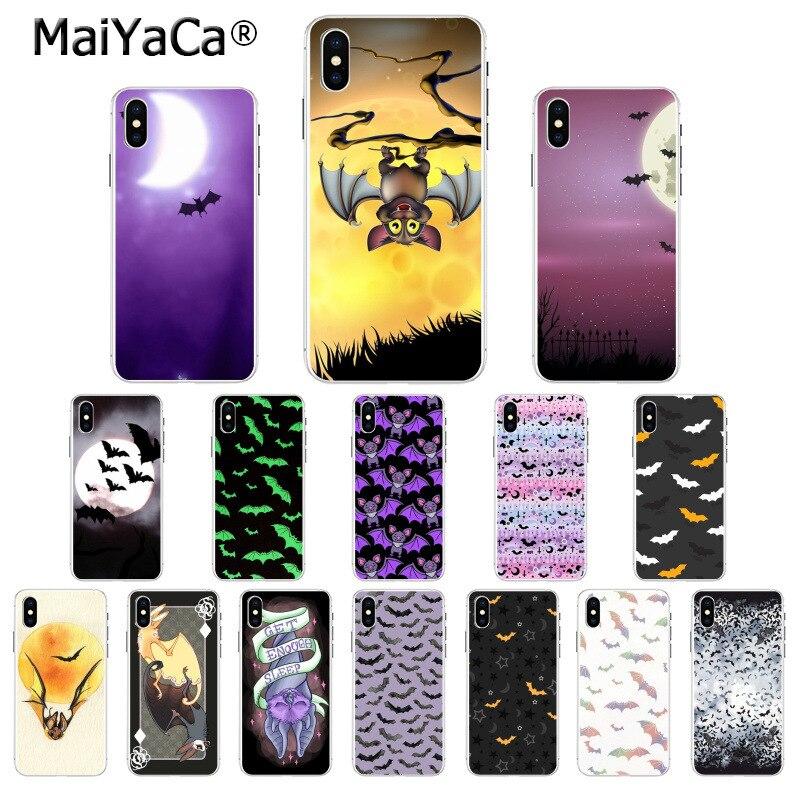 MaiYaCa Halloween bat Newly Arrived Transparent Cell Phone
