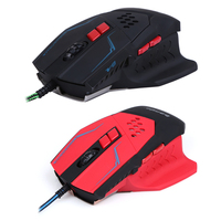 Fashion Professional Design 7keys Resolution Adjustable Mice 3200DPI LED Optical Wired Gaming Mouse For Pro Gamer