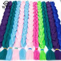 Xnaira 82 pouces Ombre synthétique tressage cheveux 165 g/pcs longue tresse Jumbo en vrac africain tressage cheveux Crochet Extensions de cheveux