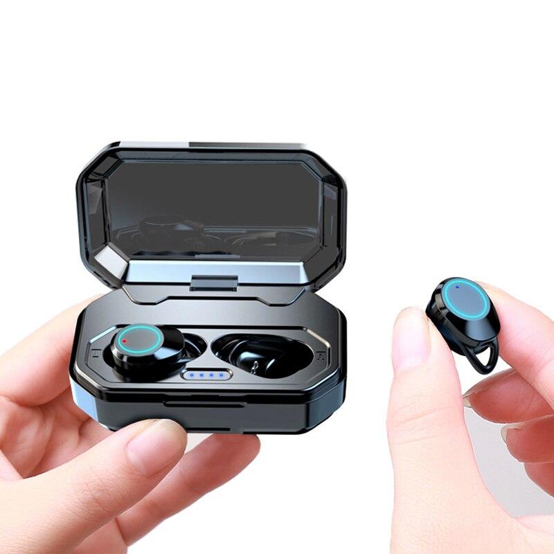 Wireless Headphone For iPhone Xiaomi mi Earphone 5.0 Bluetooth Bass IPX6 Earphones with 3000mAh Power Bank Charging Box-in Bluetooth Earphones & Headphones from Consumer Electronics    1