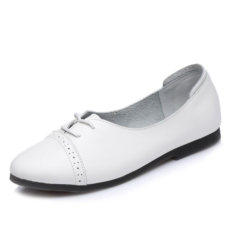 Xemonale Women Flats Solid Lace Up Casual Shoes Woman Cow Split Leather Oxfords For Spring Soft Comfortable Shoes XWD4621 real pic high color decorative rivets women casual shoes brand designer lace up comfortable women flats shoes woman