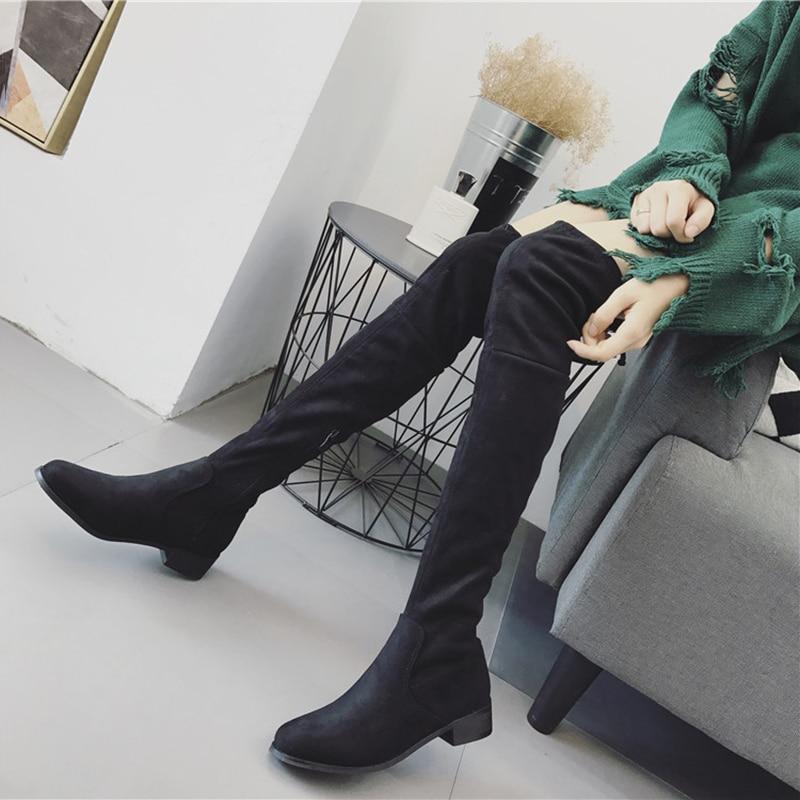 Las Muslo Sobre Del Mujeres negro Mujer Beige Zapatos Los Rodilla 34 Moda Tamaño Invierno De Botas Altos 40 Alta Tacones La 2018 zq8OAExw