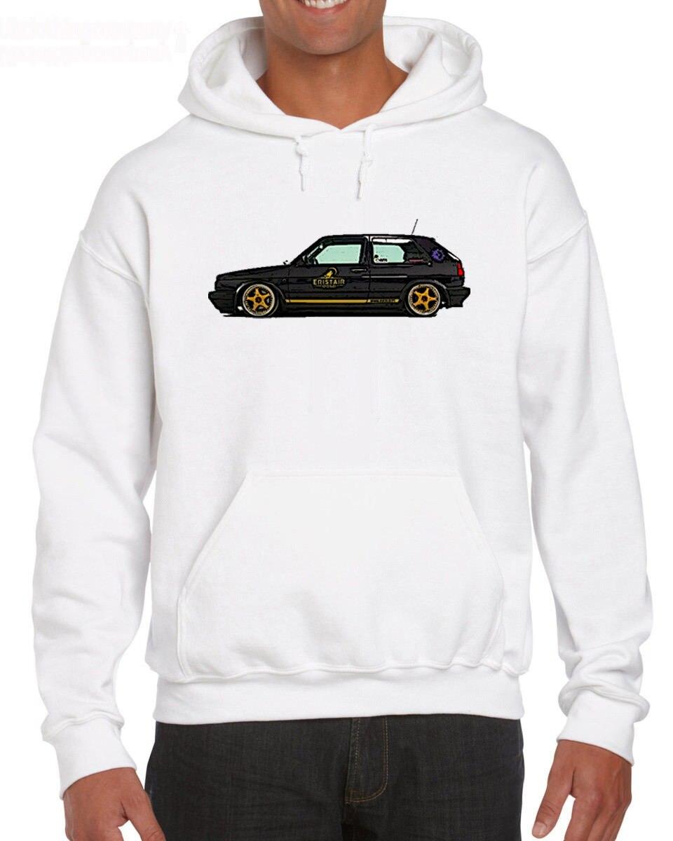 Bianca Girocollo Golf Gti Nero Mk2 di Modo Uomini Estate Casual O-Collo Maschio Magliette e Camicette Hoodies Sweatshirt