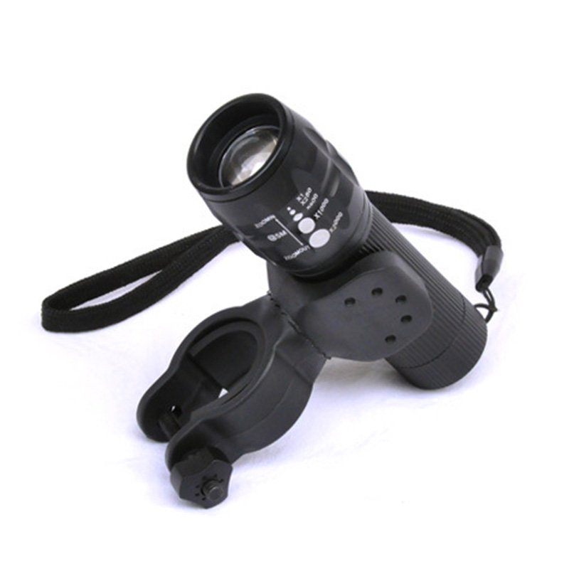 2.5 360 Torch Clip Mount Bicycle Front Light Bracket Flashlight Holder Rotation With Antiskid Rubber Gaskets Rotating Light Clip