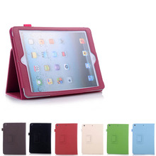 Lujo Ultra Fina Del Cuero Del Tirón Magnético Caso Elegante de la Cubierta de Despertador Para el ipad mini 1/2/3 Tablet QJY99