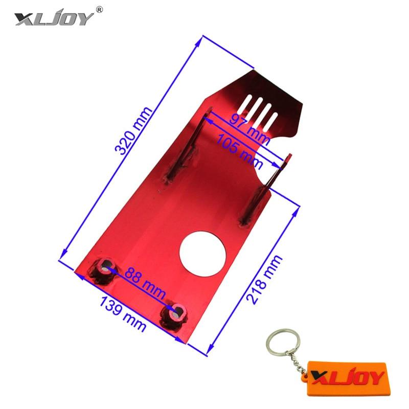 Красная противоскользящая пластина двигателя для внедорожника, питбайка, Лифан YX 50cc 70cc 90cc 110cc 125cc 140cc CRF50 Apollo Kayo Stomp Taotao IMR Pitster Pro