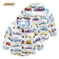 Carro dos desenhos animados impresso meninos camisas primavera 2017 nova marca meninos roupas de bebê de manga longa crianças camisas para meninos crianças clothing