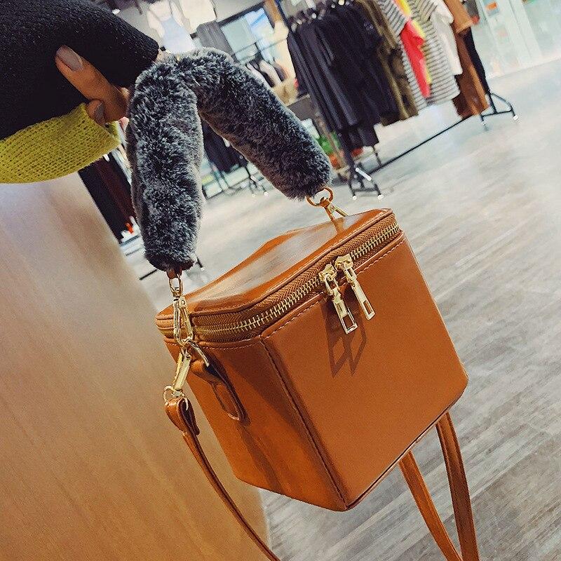 Petit sac fille 2018 mode boîte sac portable seau paquet unique sac à bandoulière sac cartable