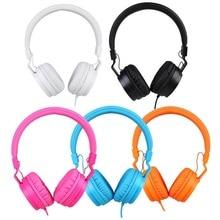 Con conexión de cable Estéreo Plegable Over Ear Auriculares Grandes Auriculares Para El Teléfono MP3 Portátil para las niñas/niños Música Auriculares