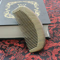 Natural Golden sandalwood combs hairbrush Wooden Comb Wide Tooth No-static head Massager Hair Brush comb for hair massage peine