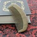 Natural de Oro de madera de sándalo Peine Peine de Dientes Anchos peines cepillo De Madera Sin cabeza Masajeador Cepillo de Pelo antiestático masaje peine para el cabello peine