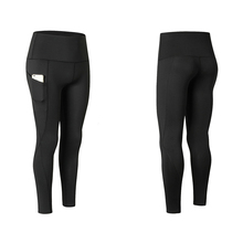 High Waist Yoga Pants Pocket Tummy Control Workout Running 4 Way Stretch Leggings with Side Pockets