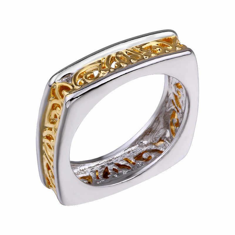 Modyle 2019 חדש עיצוב יוקרה מותג הולו פרח טבעת נשי אופנה חתונה bijoux עבור אישה איש
