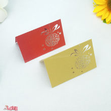 100 pcs Hydrangea Shape laser Cut Place name Seat Cup Card Wedding Invitation glass Cards text personalized 5ZZ23(China)
