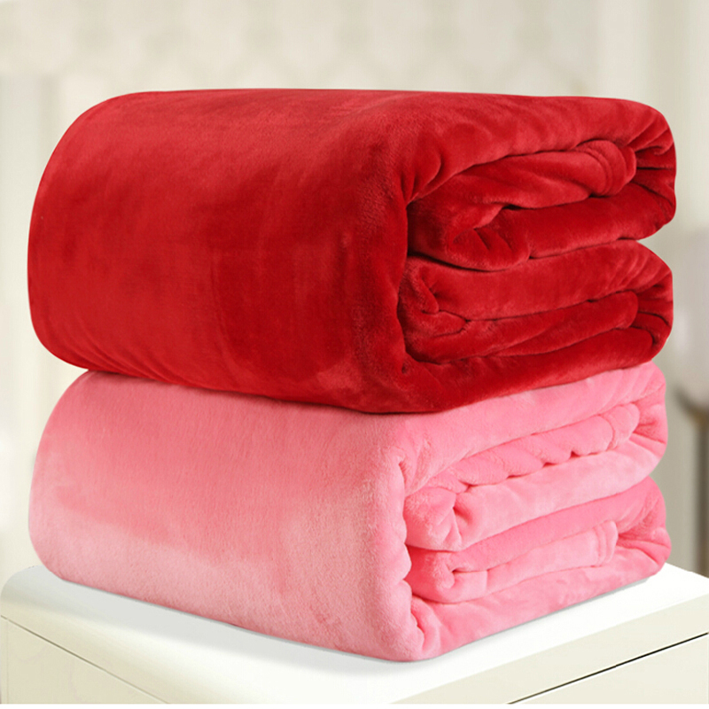 ФОТО 220*240cm 12different colors flannel comforter duvet quilt sofa air bedding Throw solid color double faced travel blanket