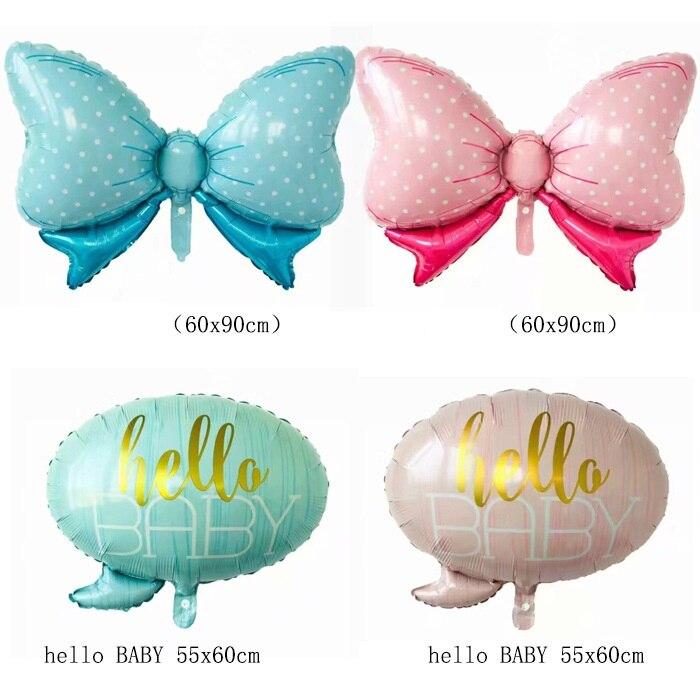 Nowy duży łuk Baby boy dziewczyna, dzień dobry dla dzieci różowy niebieski folia balony urodzinowe, baby shower noworodka strona dekoracji balon powietrza prezent