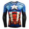 Mens Compression Shirt Superhero Superman Capitan America Iron Man 3D T Shirt Brand Clothing Fitness Men Long Sleeve T-Shirt