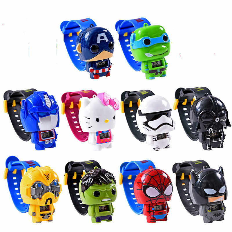 Super Hero Watch Building blocks Marveling Avengers Figures Bricks Toys  Minecrafted Block Watch