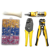 Multifunctional terminals kit Hand Tool Set crimping pliers for terminals Crimper Cable Cutter Automatic Wire Stripper hex crimper crimping pliers cable tool for rg 58 rg174 rg316 for sma bnc tnc